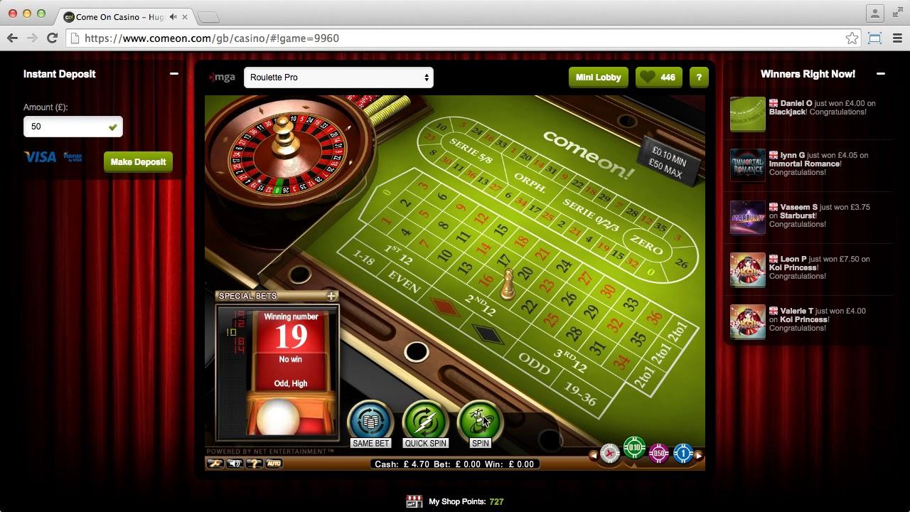 Casinostatistik spelande ComeOn casino netEnt