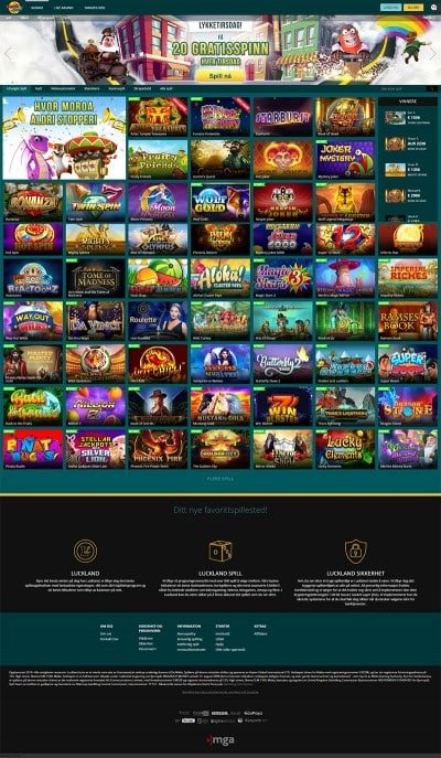Different mobile casino Luckland kampanjkod
