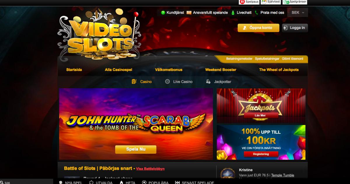 Videoslots nyheter SpinStation casino lanseras