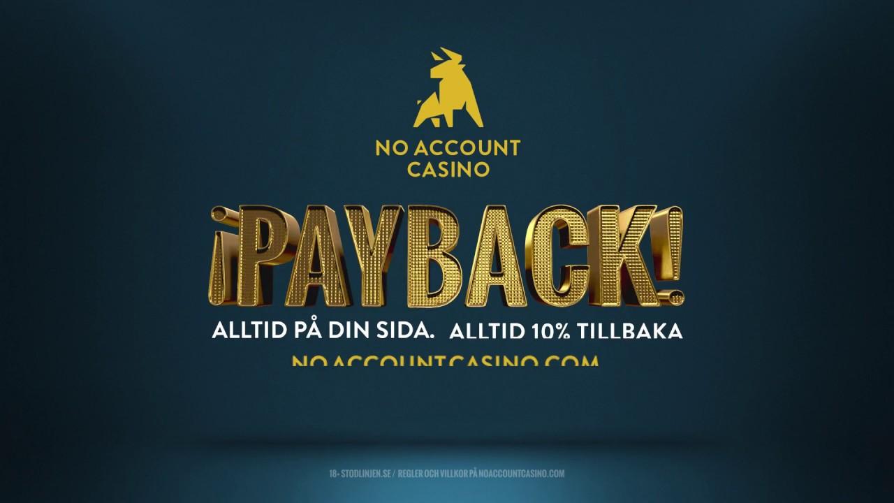 Payback no account SverigeAutomaten 322921