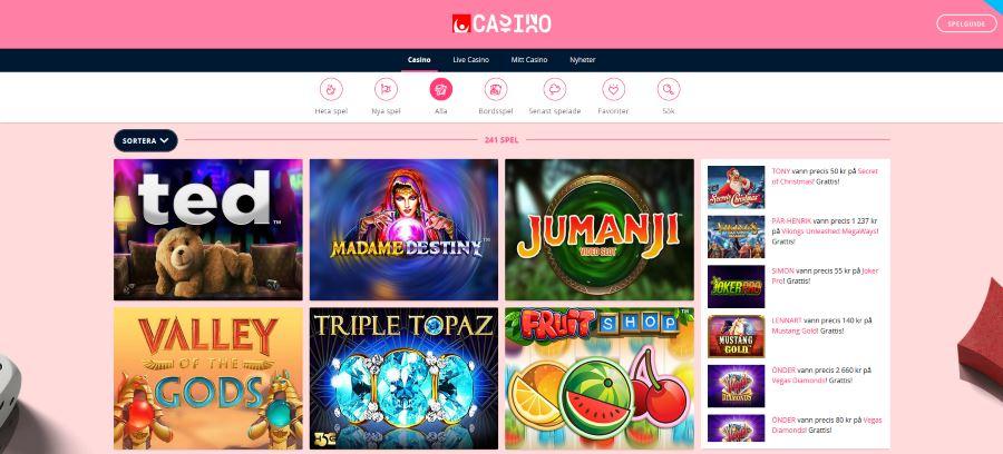 Speltillverkare svenska casino Play vill