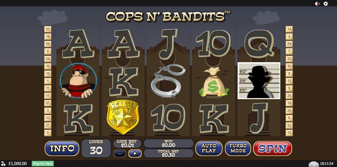 Sweden Cops Bandits slot filmen