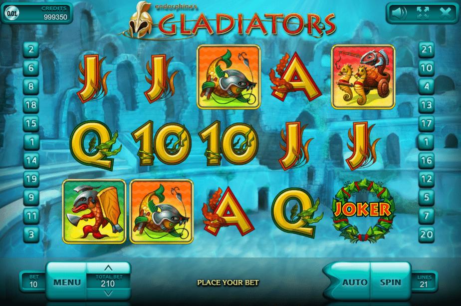 Virtual Gladiator slot machine svea