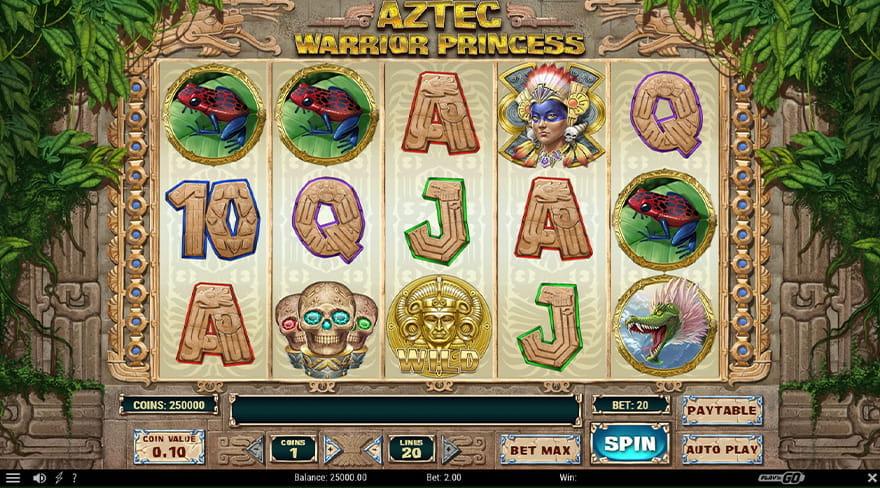 Aztec Warrior Princess slot spelandet