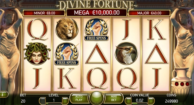 Live casino Divine Fortune tärningsspel
