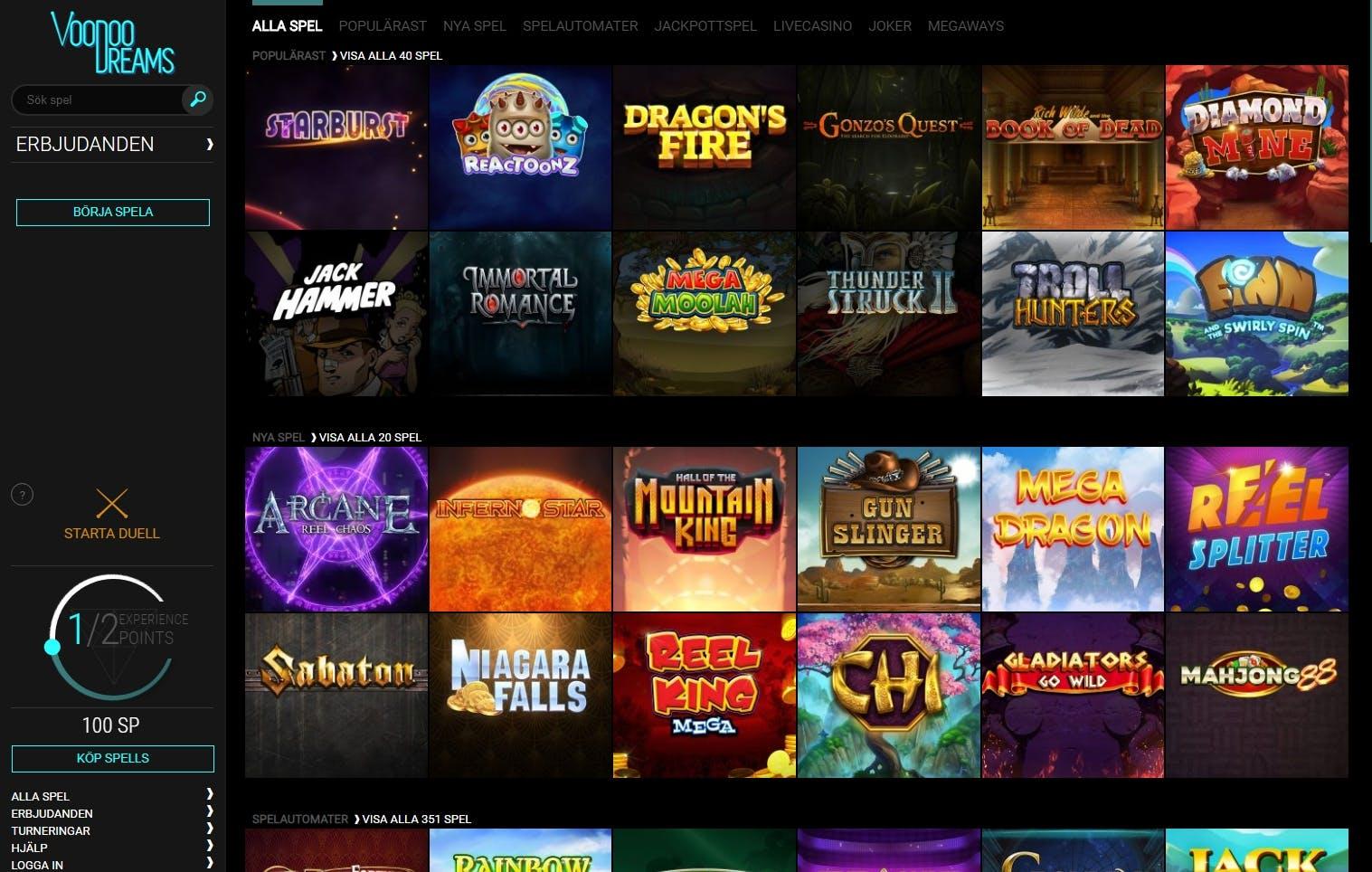 Fördomar om casino VoodooDreams wonky