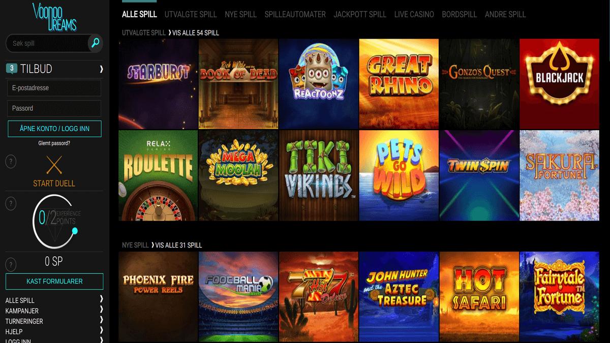 Fördomar om casino VoodooDreams hajper