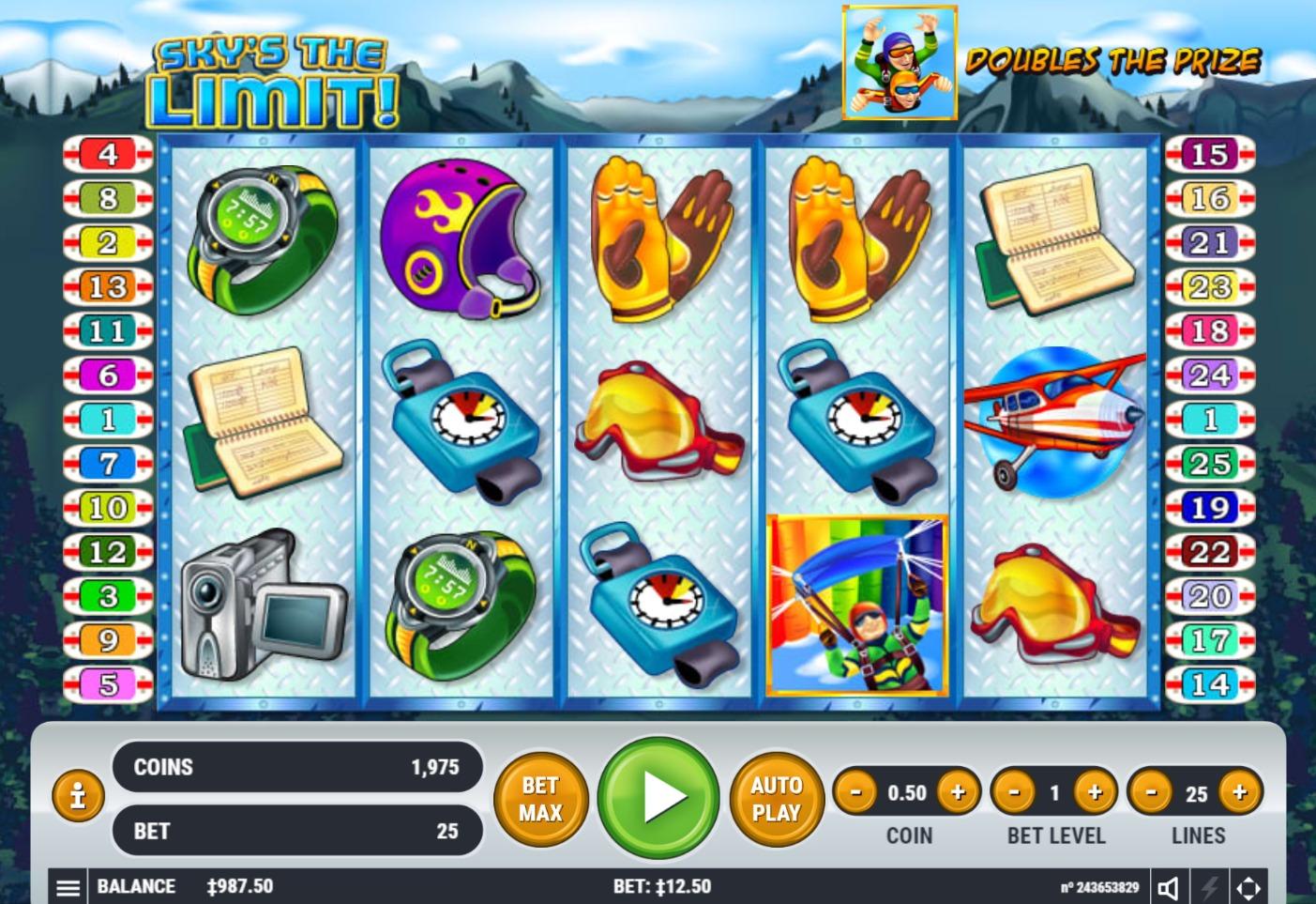 Desktop version Spinrider casino 200731