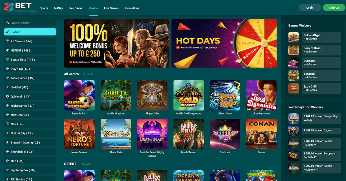 Recension casino betting online swirly
